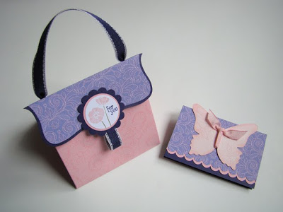 Pink Explosion Box Purse and Gift Card Holder