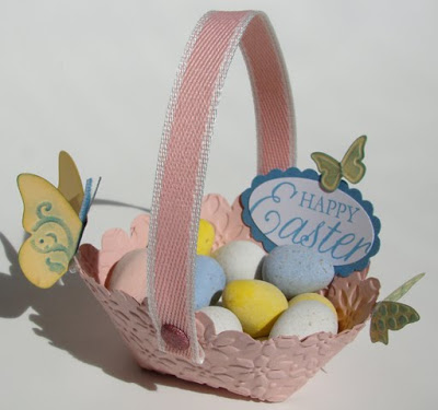 Scallop Circle Die Easter Basket