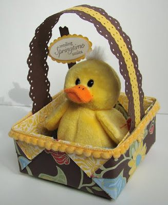 Origami Basket with Duck
