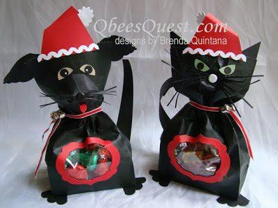 Santa Dog and Cat