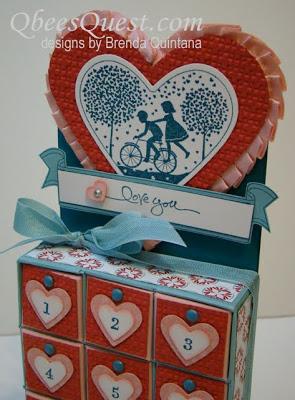 Valentine Kiss Calendar Tutorial