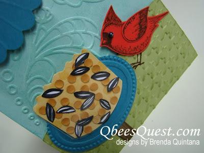 Cardinal Birdfeeder Card