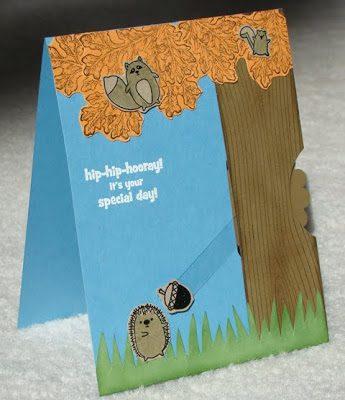 Furry Folk Swivel Card