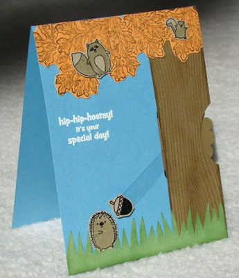 Furry Folk Swivel Card