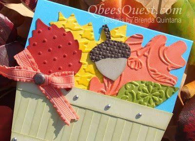 Bushel Basket Leaf Card Tutorial