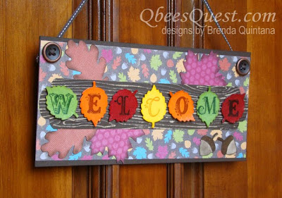 Autumn Accents Welcome Sign