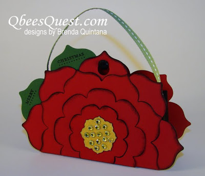 Floral Frames Poinsettia Purse