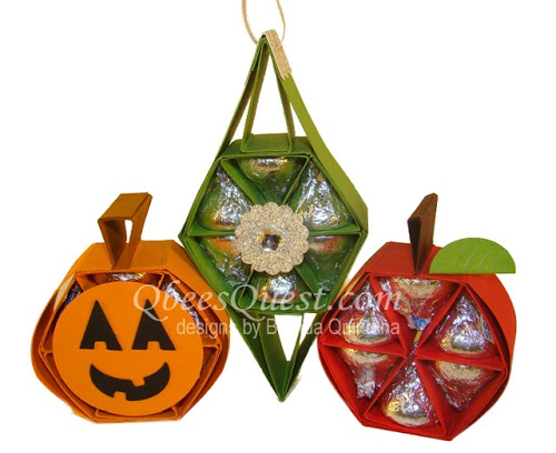Hershey's Holiday Tutorial 1 (Ornament, Pumpkin, Apple)