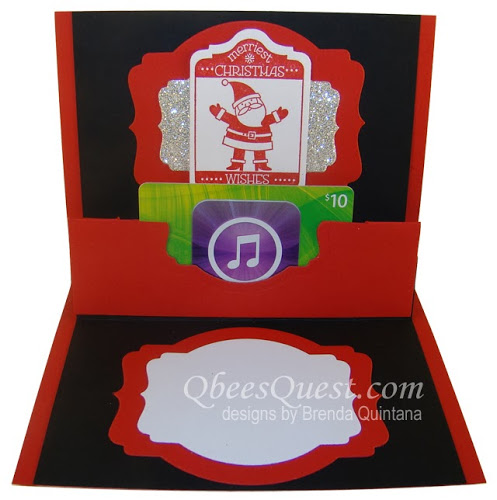 Santa Pop Up Gift Card Holder