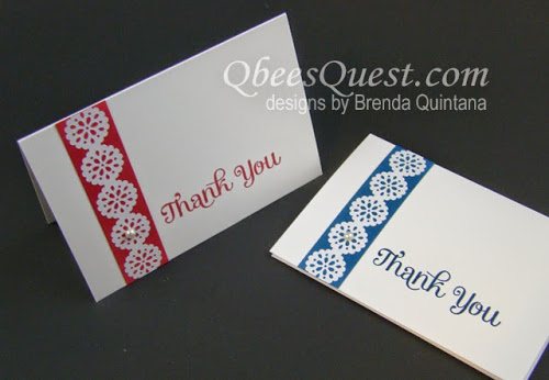 Minute Mondays: Lace Tape Note Cards