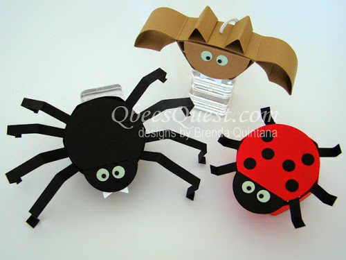 Hershey's Spider, Bat and Ladybug Tutorials