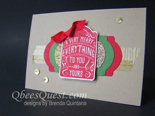 Tardy Tuesday: Note Tag Punch Christmas Card