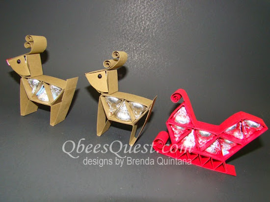 Hershey's Reindeer and Santa's Sleigh Tutorial