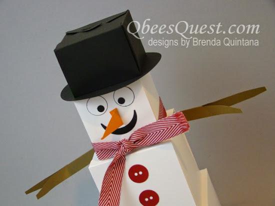 Gift Box Punch Board Snowman Tutorial