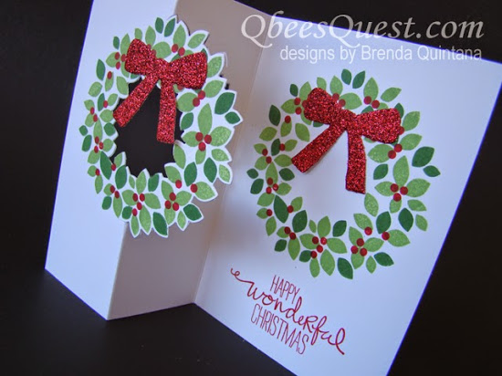Wondrous Wreath Flip Card Tutorial