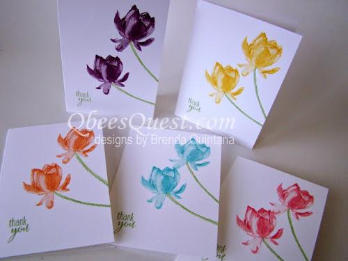 Lotus Blossom Note Cards Tutorial
