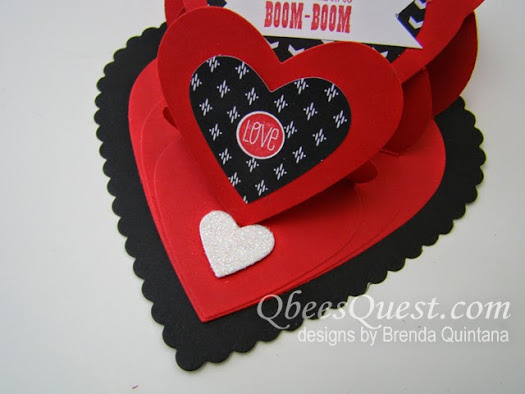 Triple Heart Easel Card Tutorial