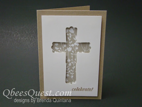 Modern Label Punch Cross Card