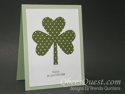 Minute Mondays: Positively Negative Shamrock Card