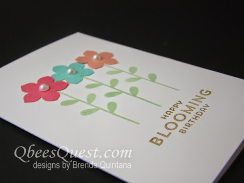 Minute Mondays: Flower Patch Note Card