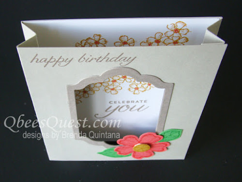Birthday Blossoms Accordion Shadowbox