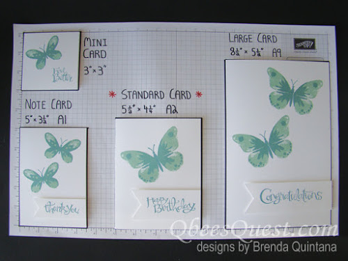 Stamping 101: Card Sizes