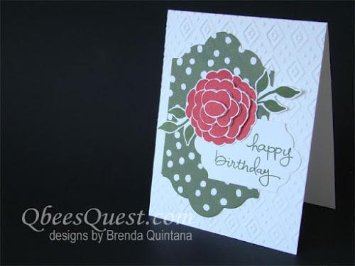 Dimensional Rose Birthday Card