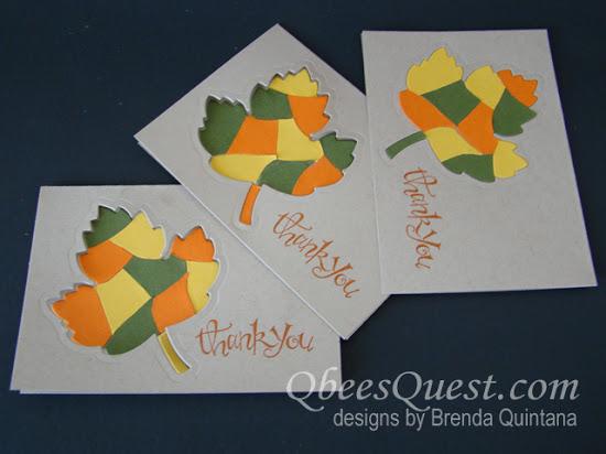 Maple Leaf Mosaic Note Card