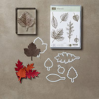 Vintage Leaves Note Card