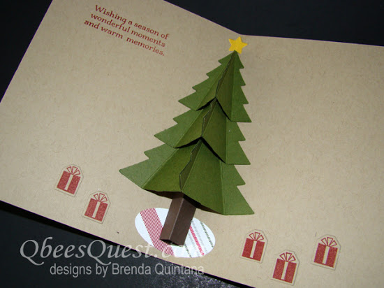Peaceful Pines Pop Up Card