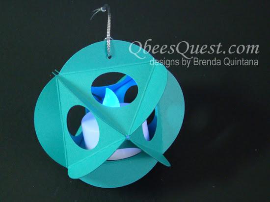 Windowed Circle Punch Ornaments