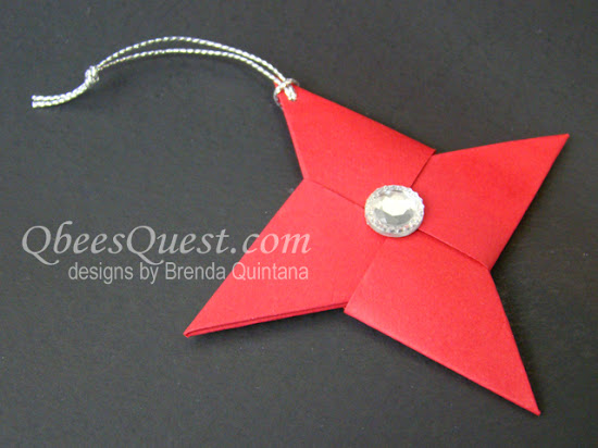 Origami Ninja Star Ornaments