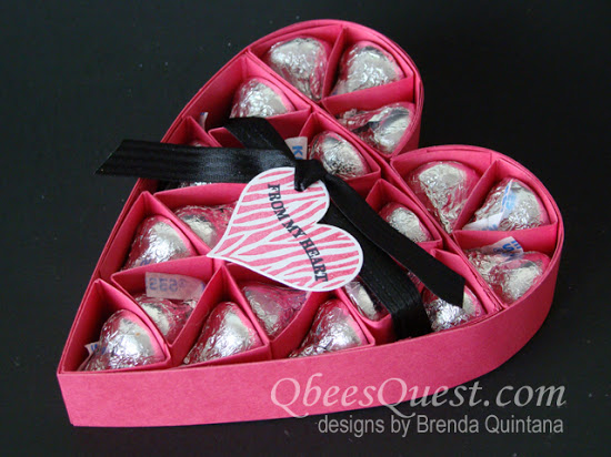 Large Hershey's Heart Tutorial