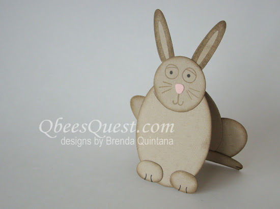 Bunny-Shaped Card with Playful Pals Bundle