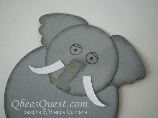Elephant-Shaped Card using Playful Pals Bundle