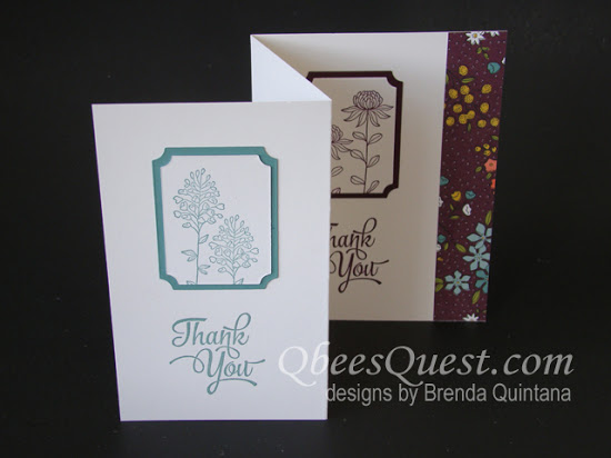 Flowering Fields Fancy Fold Card