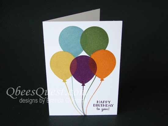 Masked Balloons Note Card