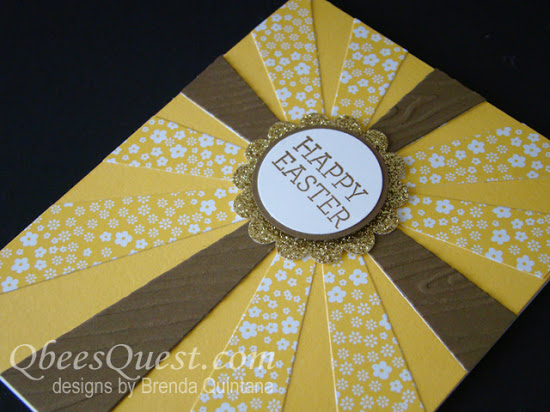 Sunburst Thinlits Easter Cross Card