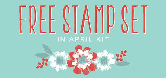 Free Stamp Set in April Paper Pumpkin Kit