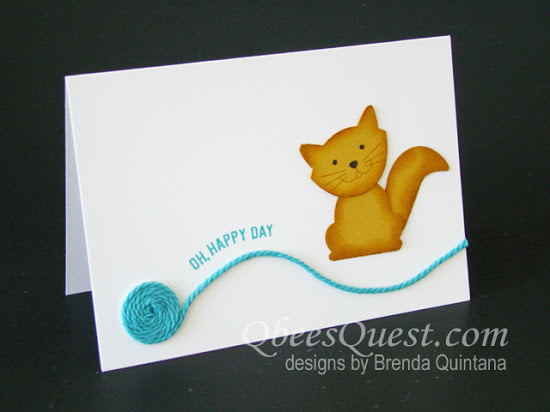 Foxy Friends Cat Note Card