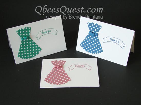 Layering Circle Dress Note Cards
