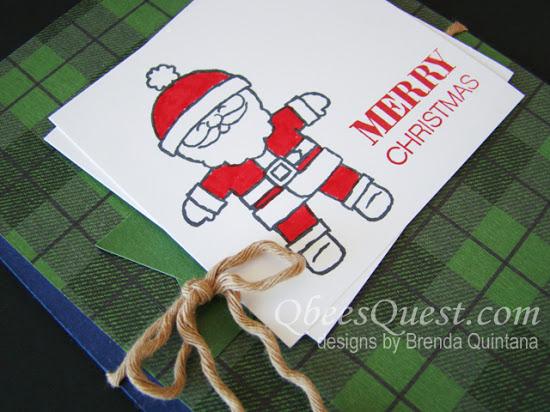 Cookie Cutter Santa Card (CT #62)