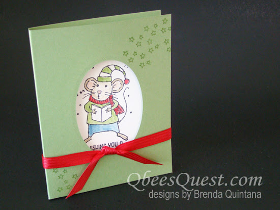 Merry Mice Note Card Holder