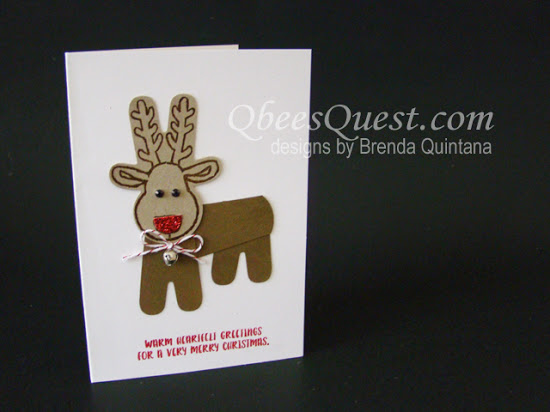 Cookie Cutter Christmas Reindeer Note Card