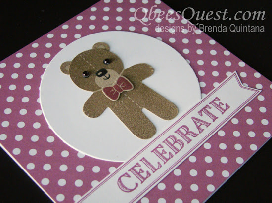 Cookie Cutter Christmas Teddy Bear Card (CT #63)