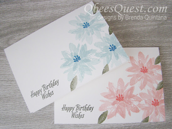 Avant Garden Triple Flower Cards