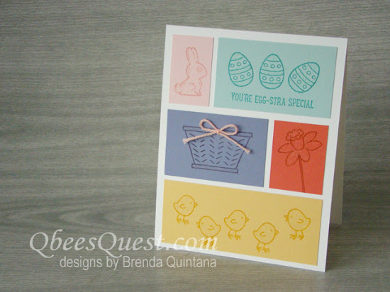 Basket Bunch Color Block Card (CT #88)