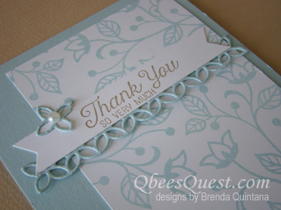 Flourishing Phrases Thank You Card (CT #97)