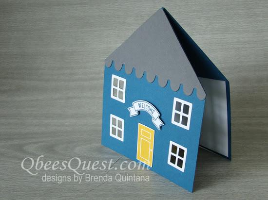 House-Shaped Fancy Fold Card