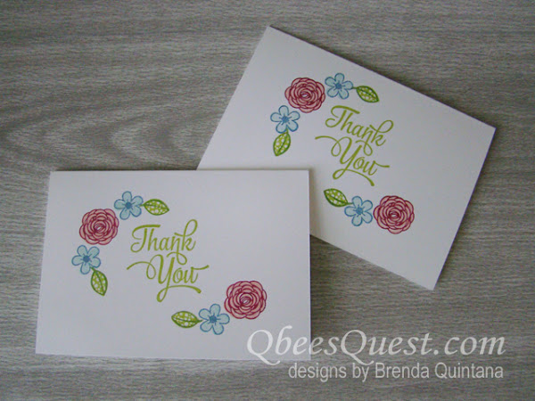 Pretty Thank You Note Card